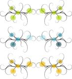 Abstract floral borders Stock Photo