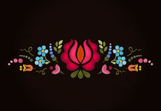 Abstract floral bright composition on dark background . Vector background . Floral pattern Royalty Free Stock Images