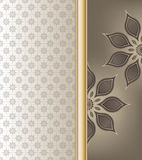 Abstract floral  on brown shade color background Stock Images