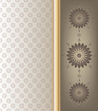 Abstract floral  on brown shade color background Stock Image