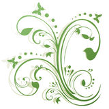 Abstract Floral Butterflies Design stock illustration