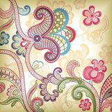 Abstract Floral and Butterfly. Vector of Abstract Floral and Butterfly stock illustration