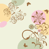 Abstract floral and butterfly Stock Photos