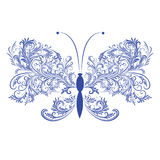 Abstract floral butterfly Royalty Free Stock Images