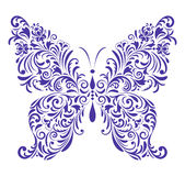 Abstract floral butterfly vector illustration