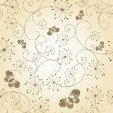Abstract floral butterfly seamless pattern Royalty Free Stock Image