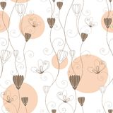 Abstract floral butterfly seamless pattern. Wallpaper Stock Image