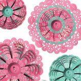Abstract Floral Doilies Royalty Free Stock Photos