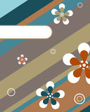 Abstract floral card. Illustration of an abstract floral card with stripes and space for your text.EPS file available Royalty Free Stock Image
