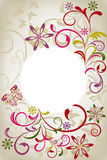 Abstract floral card Stock Images