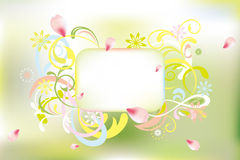 Abstract floral card Stock Image