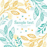Abstract floral card Royalty Free Stock Photo