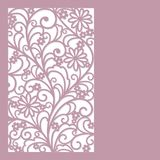Floral abstract  background. Abstract  floral  card laser cut stock illustration