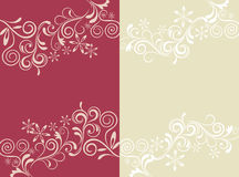 Abstract floral card set Stock Photography