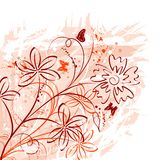 Abstract floral chaos royalty free illustration