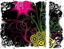 Abstract floral chaos Stock Images