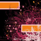 Abstract floral chaos stock illustration