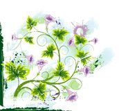 Abstract floral chaos Royalty Free Stock Image