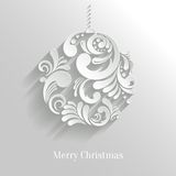 Abstract Floral Christmas Ball Royalty Free Stock Photos