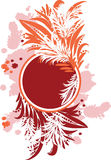 Abstract floral circle. The vector illustration contains the image of floral circle Stock Images
