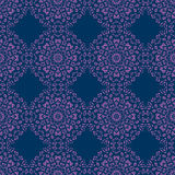 Abstract floral circles seamless pattern Royalty Free Stock Photo