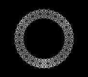 Abstract floral circular decorative frame design Stock Images