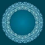 Abstract Floral Circular Frame Design Royalty Free Stock Photos