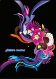 Abstract floral color wave vector Stock Image