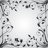 Abstract floral curly frame Stock Image