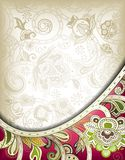 Abstract Floral Curve Stock Image