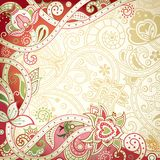 Abstract Floral Curve Frame Background Royalty Free Stock Photography