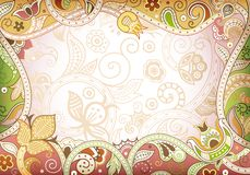 Abstract Floral Curve Frame Background Royalty Free Stock Photos