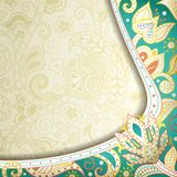 Abstract Floral Curve Royalty Free Stock Image