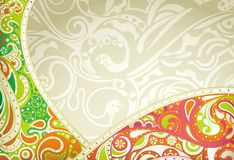 Abstract Floral Curve. Illustration of Abstract Floral background in trendy style Stock Image