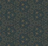Abstract floral dark pattern Royalty Free Stock Photos
