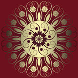 Abstract floral decoration. Vector illustration of abstract floral decoration Royalty Free Stock Photography