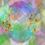 Abstract floral decoration similar to watercolor, computer generated design Stock Photo