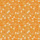Abstract floral decorative batik seamless pattern. Abstract seamless pattern of indonesian batik Stock Image