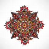 Abstract floral decorative element. Geometric ornament. Royalty Free Stock Photo