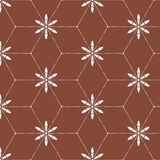 Abstract floral decorative seamless batik pattern. Abstract floral pattern of indonesian batik Stock Image