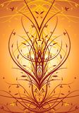 Abstract floral decorative vertical background vector illustrati. On Royalty Free Stock Images