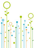 Abstract floral design stock illustration