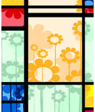 Abstract floral design. Abstract layout with floral arrangement Stock Photo