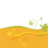 Abstract floral design. Abstract floral illustration in bright colors Royalty Free Stock Photo
