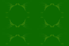 Abstract. Floral design artwork blend of lines and dots of dark green background, design / ornament of leaves / plants with a combination of yellowish green Stock Image
