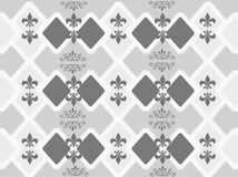 Abstract. A floral design artwork combination of lines and dots of white color, the color gray, grayish black color design blend to form a box and leaves, herbs Stock Photos