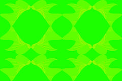 Abstract. A floral design blend of lines and dots of bright green background, design / ornament of leaves / flowers / plants with bright green and bright yellow Stock Image