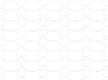 Abstract. A floral design blend of lines and dots of grayish black / gray color form a design / ornament of a pencil line similar to a flower vase Stock Photo