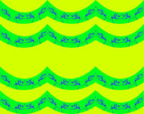 Abstract. Floral design blend of lines and dots of yellowish green background color, design / ornament forming four areas of horizontal lines bumpy green color Stock Photos