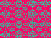 Abstract. Floral design combination of lines and dots bright blue color with dark pink to form a beautiful stunning design artwork Royalty Free Stock Photo